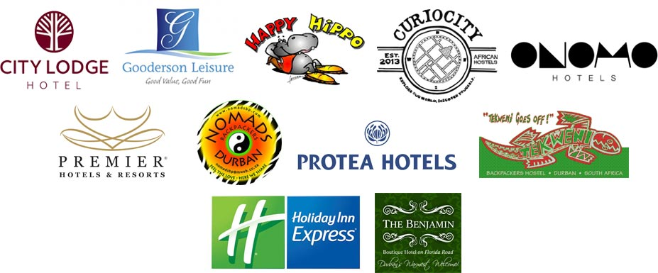 Zulu Safaris DURBAN is proud to be a major service provider for the following brands