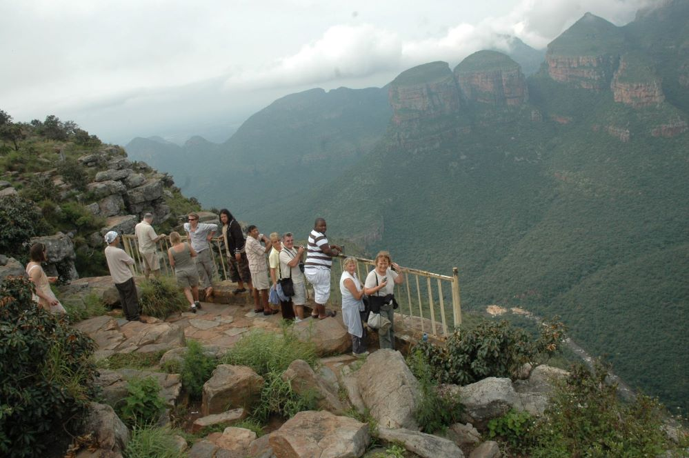 Three rondavels are the three mountain top with pointed rounds . Zulu Safaris -Durban-South Africa